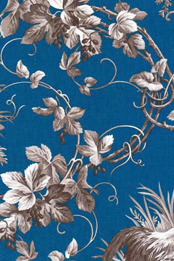 Tele azul con dibujo de horas Piccola Lucía